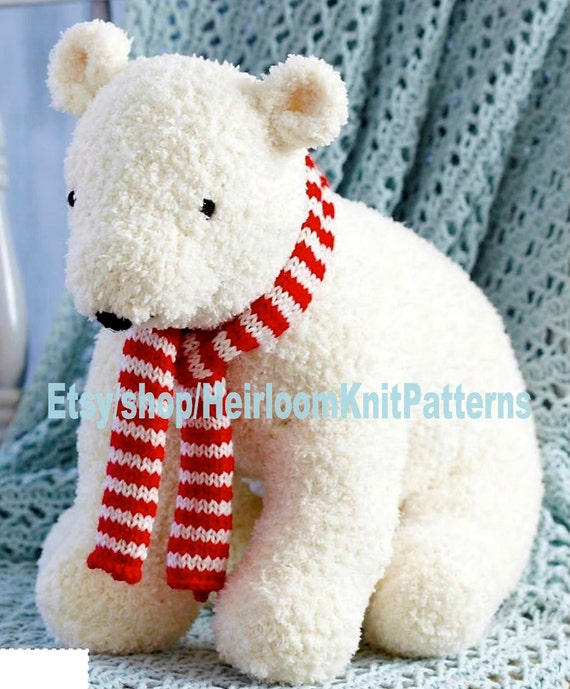 Cuddly Polar Bear Toy Knitting Pattern Bear Pattern Boy Girl Etsy