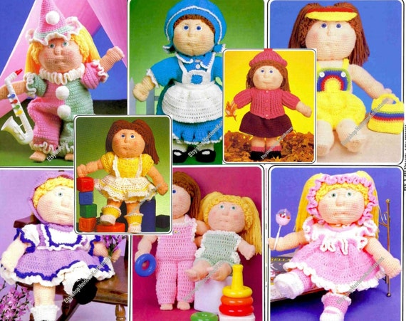 29 Pieces Vintage Doll Clothes Crochet Patterns 8 Outfits 16