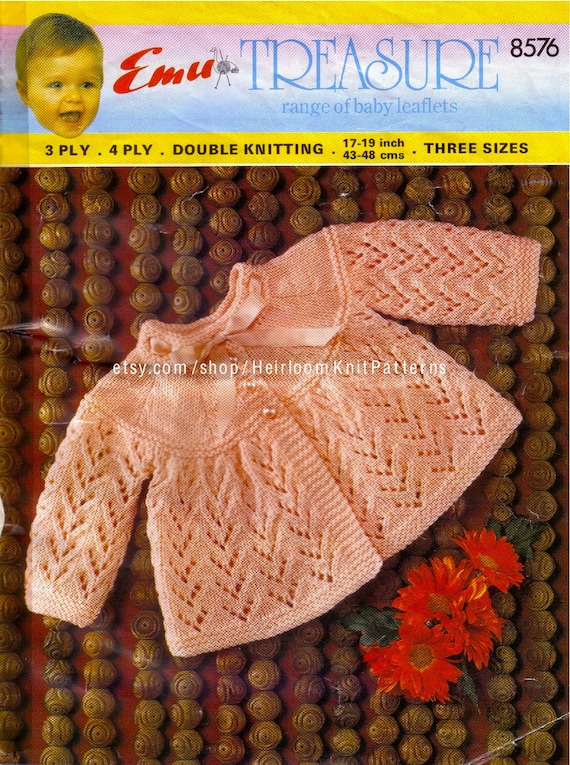 Baby vintage matinee coat sets 2 styles to knit in DK Knitting pattern