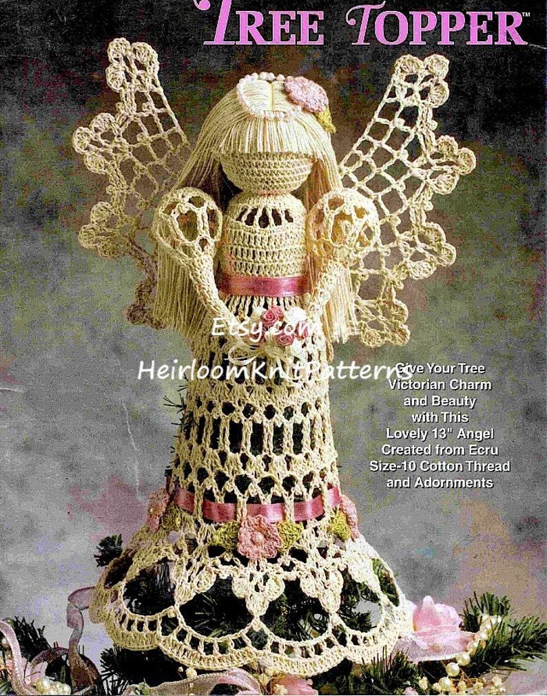 Crochet Angel Pattern Victorian Christmas Tree Topper Lacy Etsy