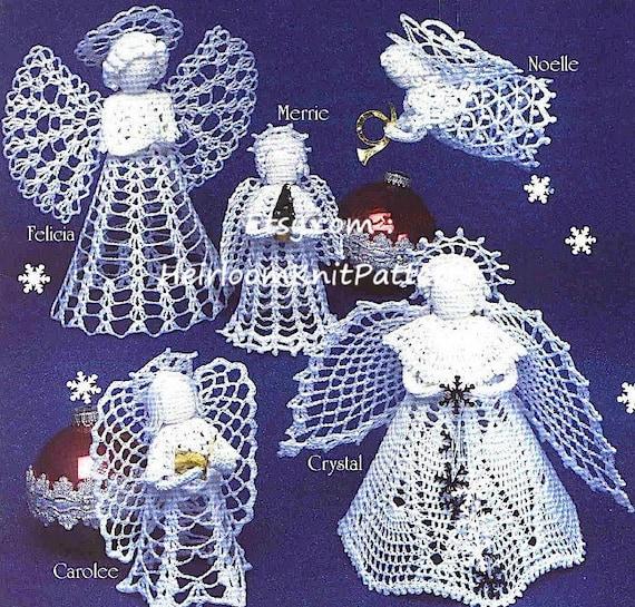6 Angels Crochet Pattern Tree Top Angel Standing Angel Etsy