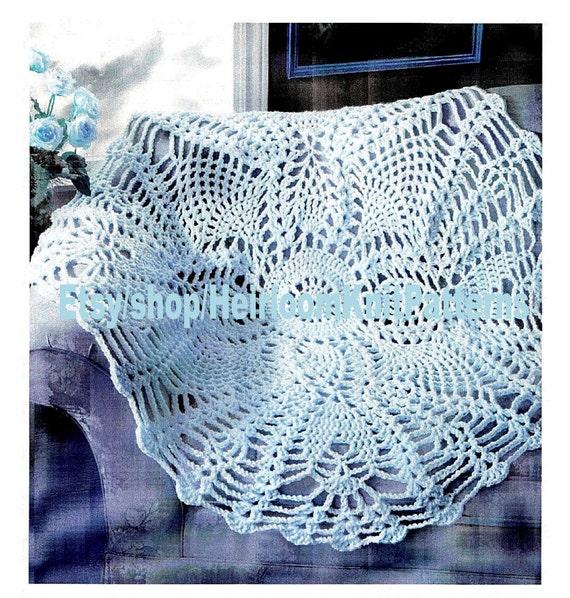 Pineapple Afghan Crochet Pattern Pdf Round Pineapple
