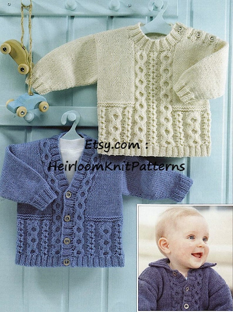 6a2eb568c Baby Child s Boys Girls Cable Jacket Sweater and Cardigan