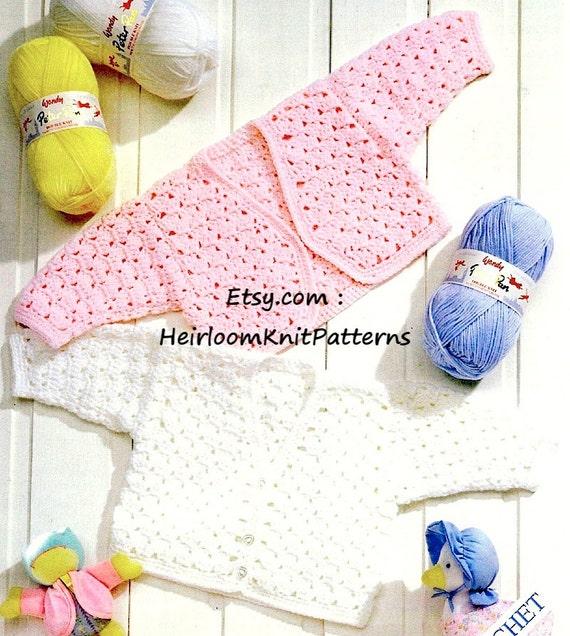 Baby Cardigan and Bolero Crochet Pattern Baby Girl DK Crochet ...