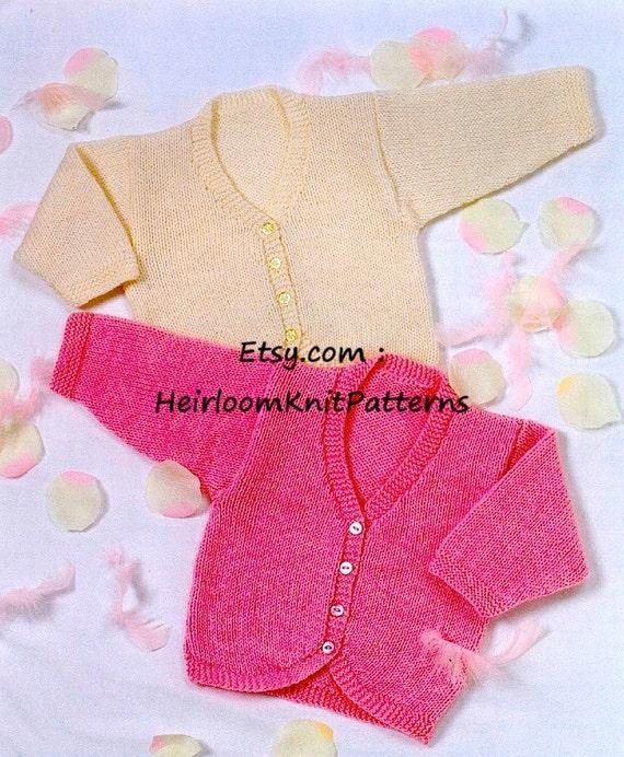 Baby Bolero Cardigan Pdf Knitting Pattern 0 6 Yrs Baby Etsy