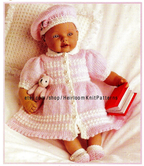 38ae0de9a Doll Clothes Knitting Pattern PDF also fits Premature and