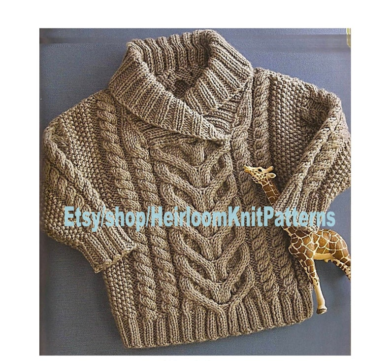 3be1e28d7 Baby Toddler Boy Girl Stunning Fisherman s Pullover  Cable