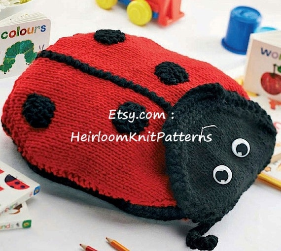 Ladybird And Bumble Bee Backpacks Knitting Pattern Pdf Chunky Etsy