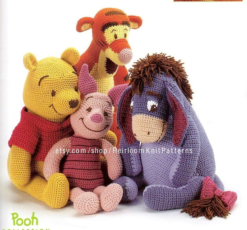 Winnie The Pooh And Friends Crochet Pattern Pdf Baby Stuffed Etsy