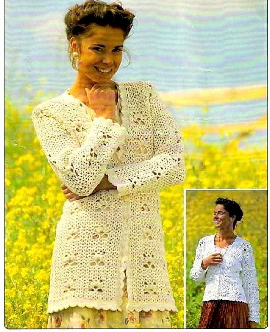 Crochet Womens Girls Cardigan Pattern Pdf Crochet Girls Etsy