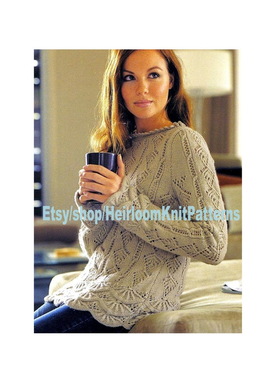 """NO 96A WOMENS CARDIGAN /&  JUMPER  Knitting Pattern   4 PLY  32-42 /"""" CHEST"""