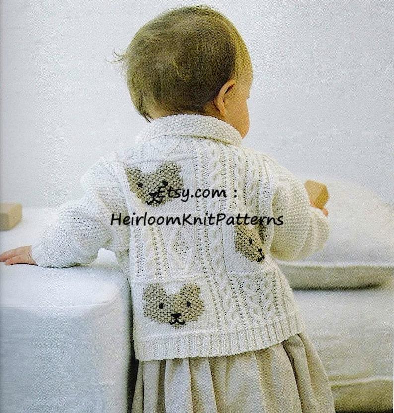 af96c68608a8 Baby Boy Girl Cable   Teddybear Jacket Cardigan Knitting