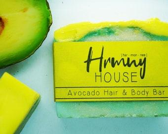 Avocado Hair & Body Bar - Natural Soap Organic Ingredients