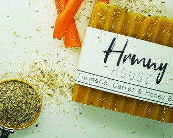 Turmeric, Carrot & Honey Bar - Chamomile Tea Infusion - Palm Oil Free