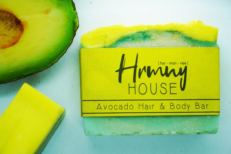Avocado Hair & Body Bar  Natural Soap Organic Ingredients image 0