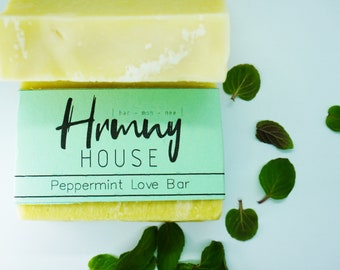 Peppermint Love Bar - Natural Restoration Soap - Palm Oil Free