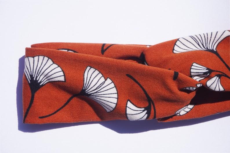 Fall Orange Turban Headband image 0