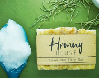 Down and Dirty Bar - Exfoliating Homemade Soap - Palm Oil Free