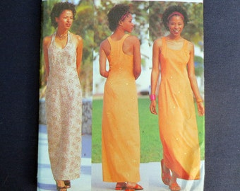 Racer Back or Halter Dress Uncut Pattern, Butterick 6637, Essence Collection, Size 6, 8, 10