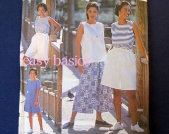 1993 Easy Summer Basics Uncut Vintage Pattern, Simplicity 8299, Size 10, 12, 14, 16, Bust 32, 34, 36, 38