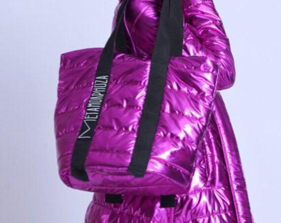 META SPORT Oversize Bright Bag/Extravagant Plus Size Bag/Large Tote Bag/Casual Shoulder Bag/Large Purse/Zipper Bag/Cloth Bag/Shiny Bag