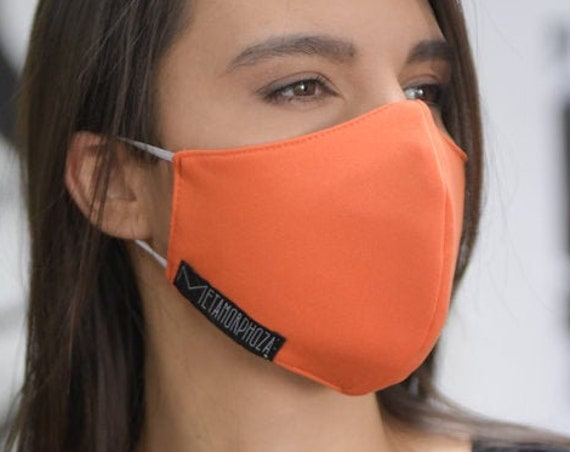NEW Orange Protection Mask/Two Layer Filter Mask/Reusable Face Mask/Adult Safety Mask/Protection Mask/Comfortable Everyday Face Mask