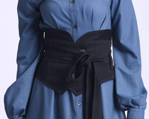 NEW Extravagant Black Belt/Extra Large Button Belt/Cloth Waist Wrap Belt/Black Maxi Belt/Casual Obi Belt/Oversize Wide Waist Belt META0024