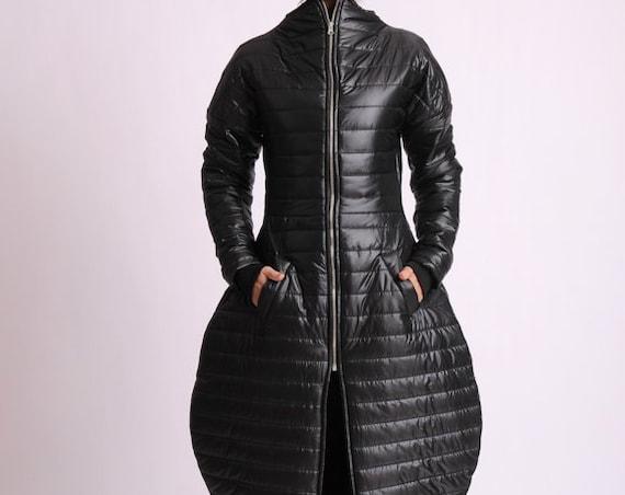 Maxi Asymmetric Coat/Long Casual Coat/Asymmetric Jacket/Extravagant Jacket/Plus Size Long Coat/Black Casual Jacket/Oversize Coat METC0066