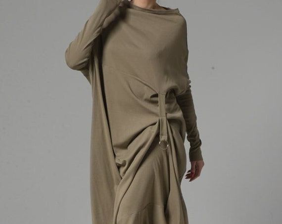 NEW Kaftan Maxi Dress / Plus Size Maxi Dress with Sleeves / Plus Size Kaftan / Oversize Dress / Asymmetrical Dress