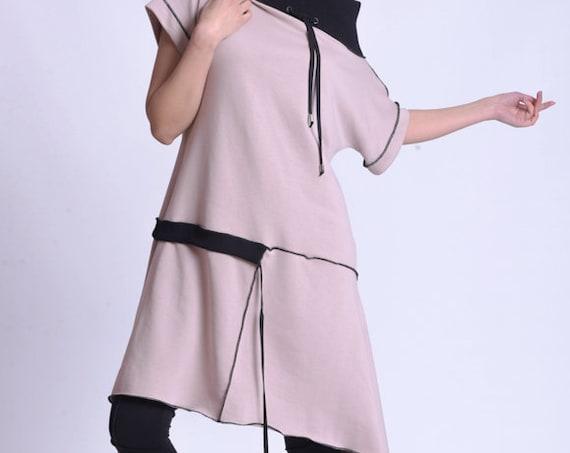 NEW Asymmetric Loose Naked Shoulder Tunic Dress by METAMORPHOZA