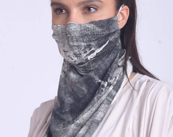 Extravagant Pattern Safety Mask/OEKO Filter Face Mask/Face and Neck Cover Mask/Reusable Neck Gaiter/Protective Balaclava/Face Mask with Ties