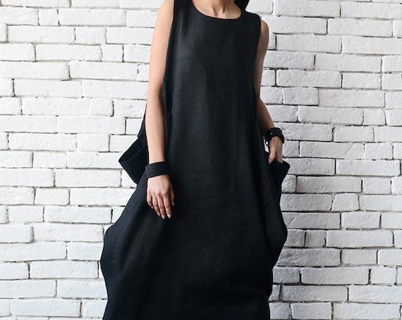 Summer Linen Dress / Boho Linen Dress / Linen Clothing / Plus Size Dress