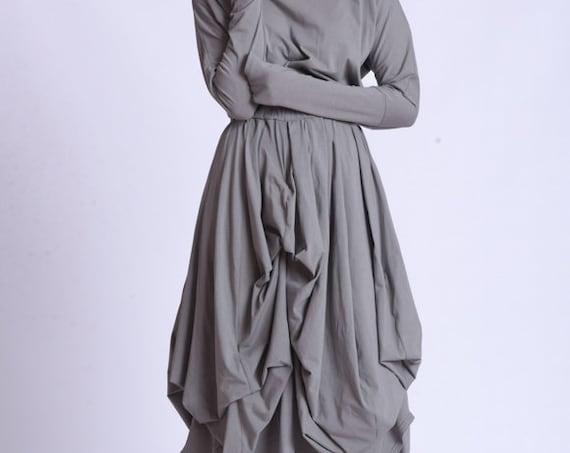 NEW Loose Asymmetric Hooded Dress by METAMORPHOZA