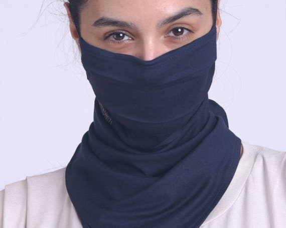 Dark Blue Balaclava/Navy Face Mask/Navy Bandana Mask/Everyday Face Cover/Casual Face Scarf/Comfortable Neck Gaiter/Protective Filter Mask