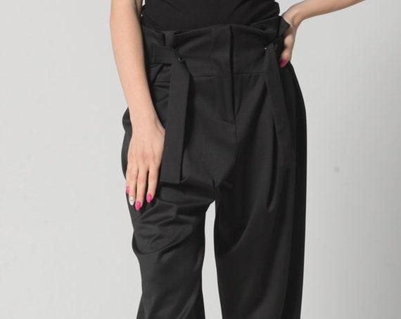 NEW Drop Crotch Pants Women / Wide Leg Pants Women / Mom Pants / Plus Size Harem Pants / Harem Trousers / Loose Trousers / Maxi Pants