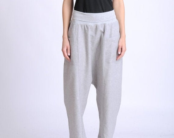 NEW Light Grey Linen and Cotton Pants/Wide Leg Casual Trousers/Summer Long Easy to Wear Pants/Linen Maxi Pants/Everyday Comfortable Pants