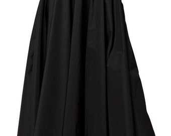 SALE Maxi Black Skirt / Long Black Skirt / High Waist A Line Skirt / Oversize Long Skirt/ Casual Black skirt / Loose Sexy Skirt by METAMORPH