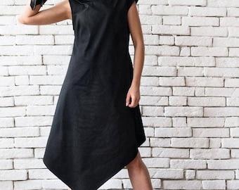 8f38e0e42c12f SALE Black Asymmetric Dress/Plus Size Loose Tunic/Extravagant Long  Top/Sleeveless Black Dress/Maxi Black Dress/Black Maxi Dress/Black Long T