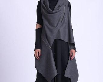 sleeveless loose vestasymmetric cotton vestblack oversize vestplus size vestwinter women vestsleeveless kimonolong cotton cardigan