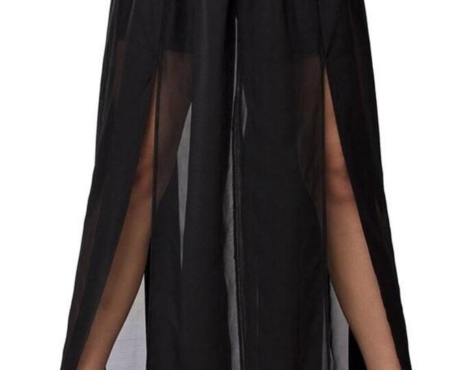 SALE Sheer Maxi Skirt /Black Long Skirt / Trendy Sheer Skirt /Summer Party Skirt /Extravagant Black Skirt / Stage Outfit Skirt / Black Maxi