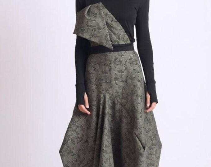 SALE Extravagant Asymmetric Skirt/Oversize Avant Garde Skirt/Loose Jumpsuit Skirt/Long Maxi Skirt/Handmade Party Skirt/Long Oversize Skirt