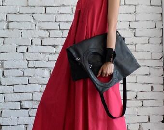 Pink Maxi Dress / Extravagant Long Dress / Black Kaftan / Party Dress / Day Wear Dress by METAMORPHOZA