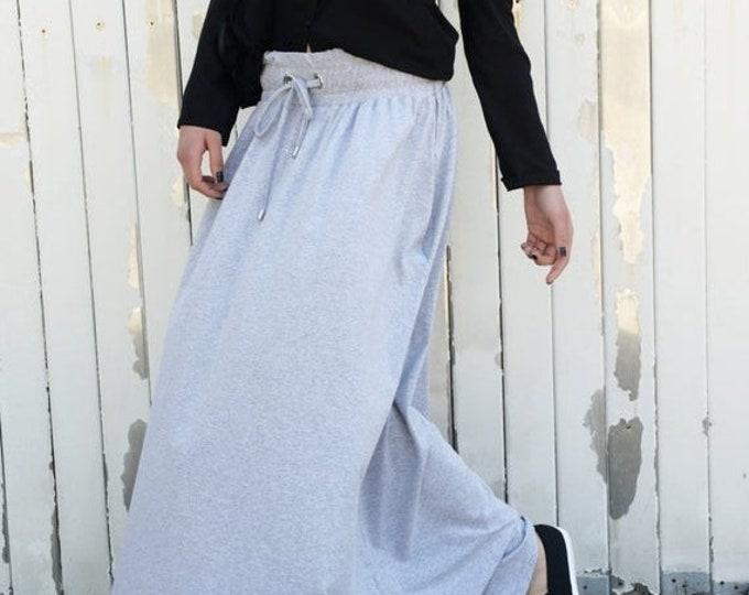 SALE Long Skirt / Maxi Skirt / Long Grey Skirt / Casual Grey Skirt / Grey Everyday Skirt / Grey Skirt by METAMORPHOZA