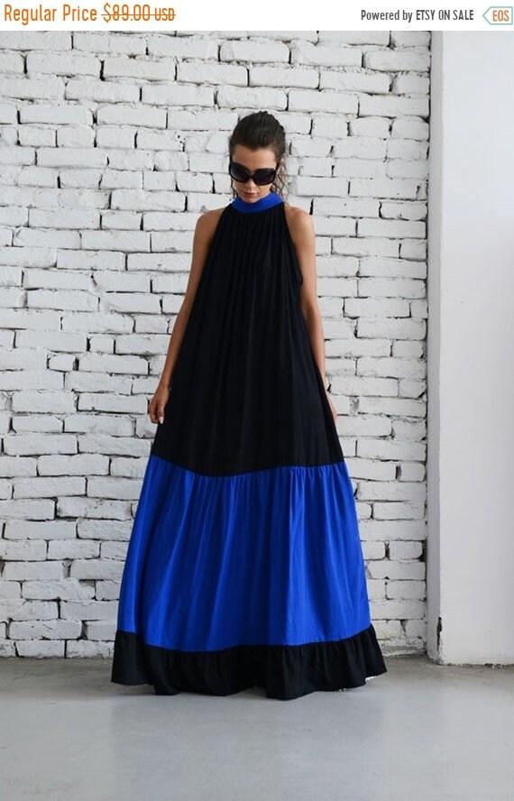 20% OFF Black Maxi Dress/Plus Size Kaftan/Long Blue Dress/Loose Casual Dress/Oversize Black Dress/Plus Size Maxi Dress/Sleeveless Collar Dre