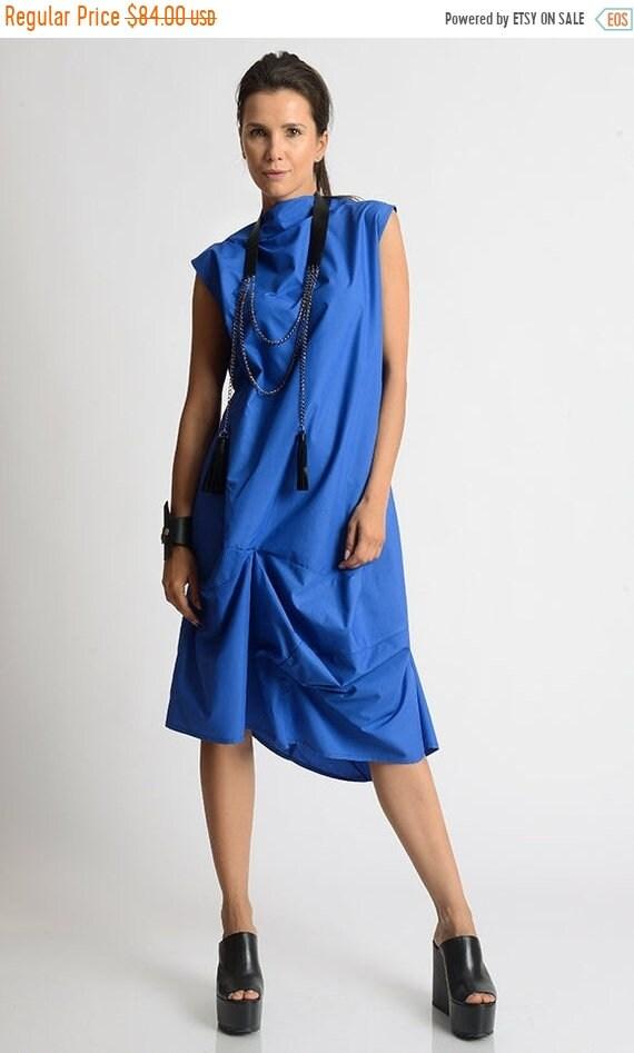 SALE Royal Blue Maxi Dress/Extravagant Asymmetric Kaftan ...