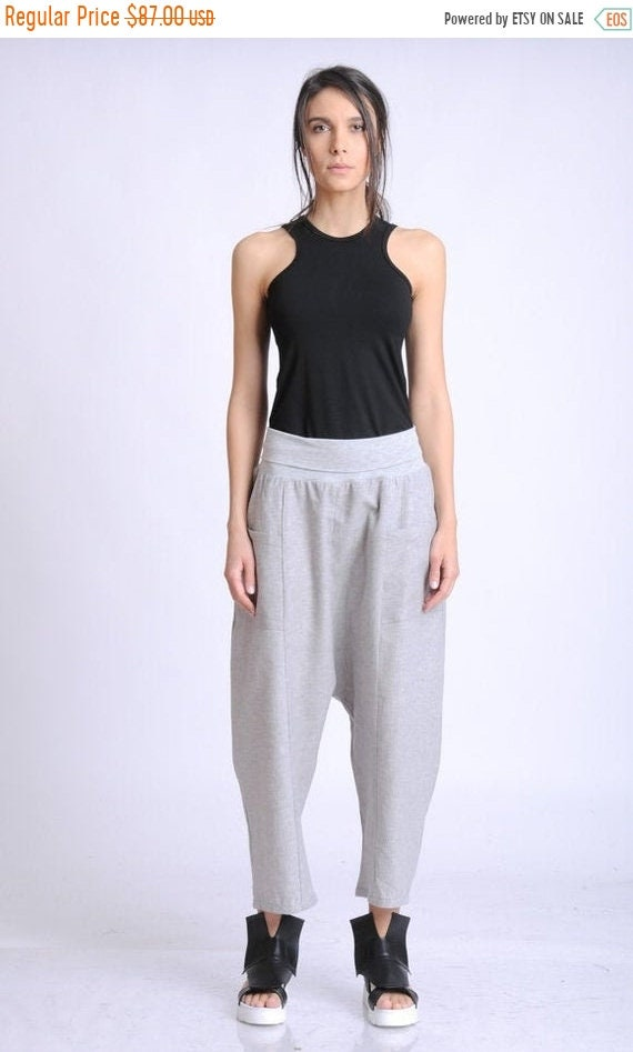 20% OFF NEW Light Grey Linen and Cotton Pants/Wide Leg Casual Trousers/Summer Long Easy to Wear Pants/Linen Maxi Pants/Everyday Pants METP00