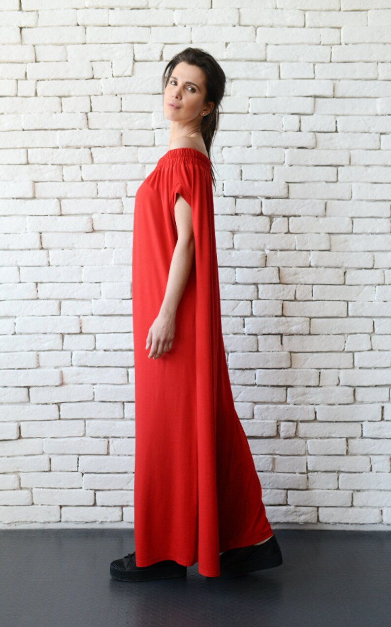 21a11c8c19b Plus Size Red Jumpsuit Oversize Long Overall Casual Red Maxi