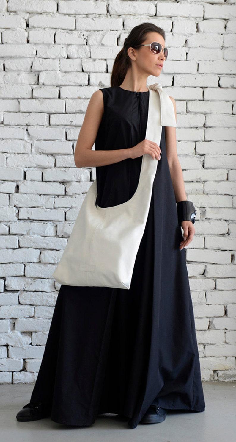 White Shoulder Bag/Extravagant Maxi Bag/Cross Body image 0