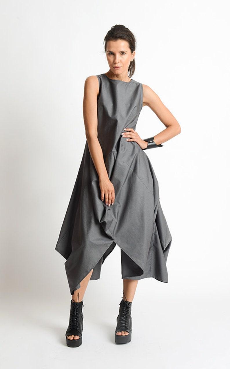 Grey Loose Oversize Dress/Plus Size Casual Dress/Extravagant image 0