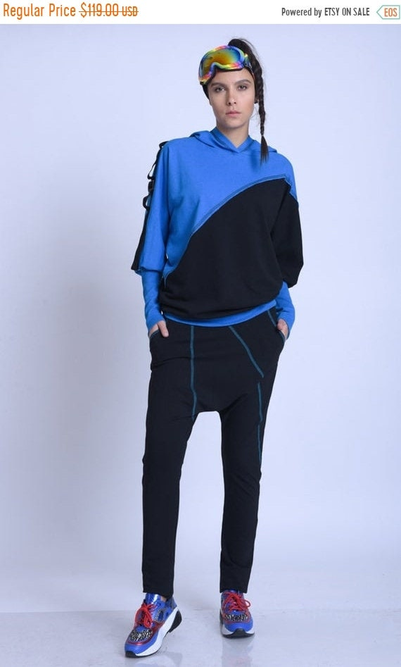 15% OFF META SPORT Two Color Tracksuit/Extravagant Workout Set/Casual Comfortable Set/Loose Set with tunic and Pants/Multi Color Casual Trac
